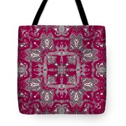 Rubies And Silver Kaleidoscope Tote Bag
