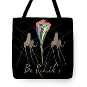 Rubik's Cube And Salvador Dali Elephants Tote Bag