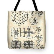 Rubik's Cube Patent 1983 - Vintage Tote Bag
