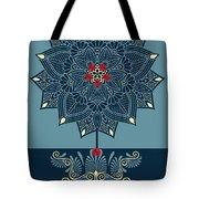 Rubino Zen Flower Tote Bag