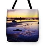 Ruby Beach Yellow Blue Tote Bag