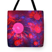 Ruby Blue Rays Tote Bag