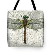 Ruby Meadowhawk Dragonfly Tote Bag