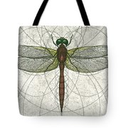 Ruby Meadowhawk Dragonfly Tote Bag