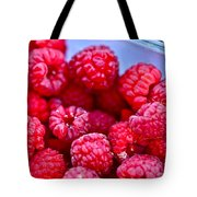 Ruby Raspberries Tote Bag