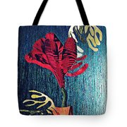 Ruby Red Flower Tote Bag