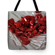 Ruby Red Hearts And Crystal Tote Bag
