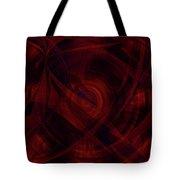 Ruby Red Veil Tote Bag