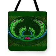 Ruby Singularity In Emerald Sapphire Nest Tote Bag