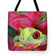Ruby The Red Eyed Tree Frog Tote Bag