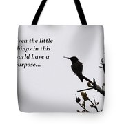 Ruby-throated Hummingbird - Little Things Tote Bag