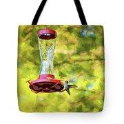 Ruby-throated Hummingbird 2 - Impasto Tote Bag