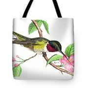 Ruby-throated Hummingbird Tote Bag
