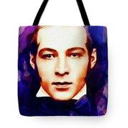 Rudolph Valentino, Vintage Movie Star Tote Bag
