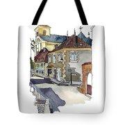 Rue Font St Jean, Ste Alvere, Dordogne Tote Bag