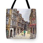 Rue Malpalu, Rouen, France I Tote Bag
