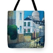 Rue Norvins, Paris Tote Bag