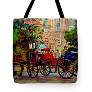Rue Notre Dame Montreal Tote Bag