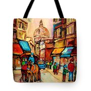Rue St Jacques Old Montreal Streets  Tote Bag