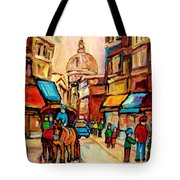 Rue St. Paul Old Montreal Streetscene Tote Bag