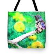 Ruffled Hummingbird - Digital Paint 5 Tote Bag