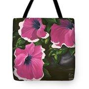 Ruffled Petunias Tote Bag