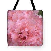 Ruffled Pink Rose Tote Bag