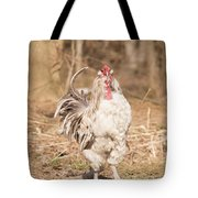Ruffled Rooster Tote Bag
