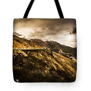 Rugged And Intense Mountain Background Tote Bag