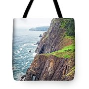 Rugged Oregon Coast On A Foggy Day Tote Bag