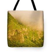 Rugged Volcanic Peaks Of Moorea Tote Bag