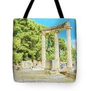 Ruin Of Philipp's Temple In Olympia, Greece Tote Bag