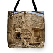 Ruin With Small Plant Tote Bag