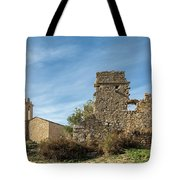 Ruined Building And Restored Church At Occi In Corsica Tote Bag