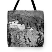 Ruins And Basgo Monastery Surrounded With Stones And Rocks Ladakh Tote Bag