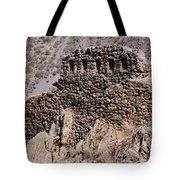 Ruins At The Ollantaytambo Site Tote Bag