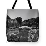 Ruins In The Burren County Clare Ireland Tote Bag