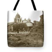 Ruins Of Carmel Mission Circa 1924 Tote Bag