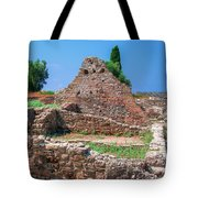 Ruins Of The Ancient City Of Side Tote Bag