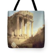 Ruins Of The Temple Of Bacchus Tote Bag