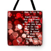 Rules To Live By Tote Bag