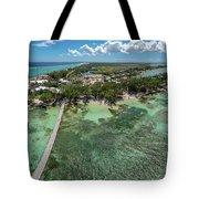 Rum Point Beach Panoramic Tote Bag