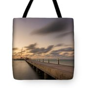 Rum Point Grand Cayman At Dusk Tote Bag