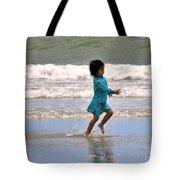 Run Splash Play Tote Bag