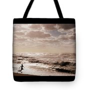 Run, You Are Free Tote Bag by Riad Belhimer