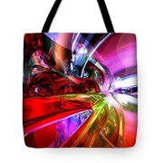 Runaway Color Abstract Tote Bag by Alexander Butler