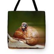 Runaway Snail Tote Bag