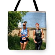 Runners At The 24 Hours Of Triathlon Tote Bag