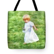 Running Barefoot In The Grass Tote Bag