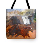 Running Before The Storm Tote Bag